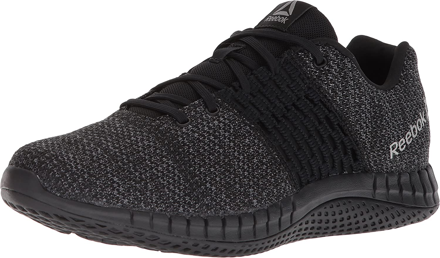 Reebok Mens CN1113 Print Run Ultraknit Black Size