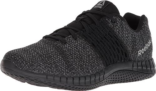 Reebok Men's Print Run Ultraknit zapatos, negro Coal Asteroid dust, 13 M US