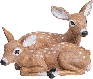 Sculptural Gardens by Heritage Farms Fawn Pair Statuary