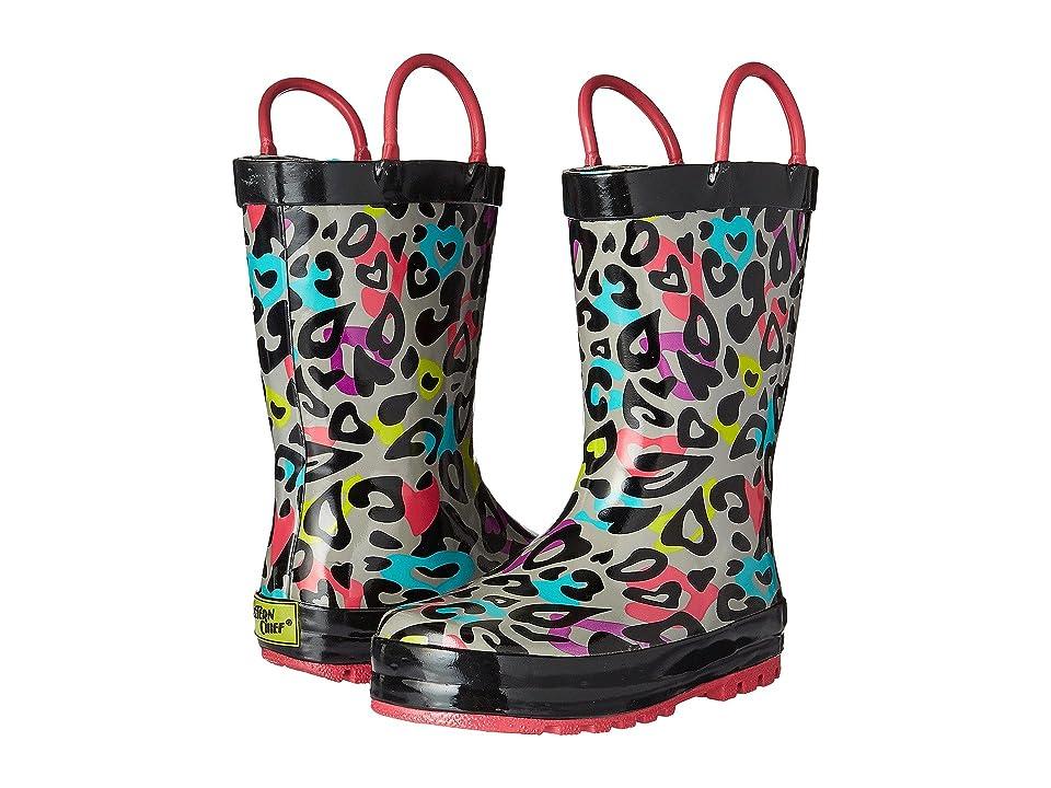 Western Chief Kids Groovy Leopard (Toddler/Little Kid/Big Kid) (Black) Girls Shoes