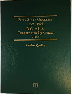 2009 Hard Cover 1999-2008 Fifty State Quarters Collector's Coin Album Empty # LCF3T by Littleton Custom Coin Folder