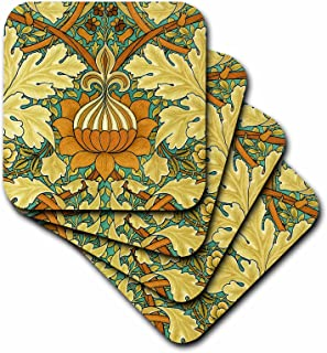 3dRose William Morris St James Chintz - Soft Coasters, Set of 8 (CST_219389_2)
