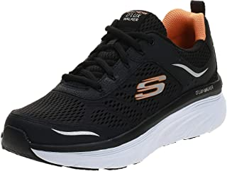 حذاء الجري على الطريق للرجال دي لوكس ووكر من سكيتشرز، اسود (اسود/ ابيض)، 42.5 EU