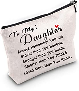TSOTMO To My Daughter Gift From Mom Dad Inspirational Gift You are Braver than You Believe, Stronger than You Seem, Smarte...