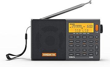 XHDATA D-808 SSB BCLラジオ FM AM 短波 長波 エアバンドDSP RDS 高感度 ポータブルラジオ バッテリーから電気が供給されるには、世界のブロードバンドクロックラジオ、充電式バッテリーを内蔵し、自動的にシャットダウン...