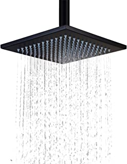 Hiendure® Ceiling Mount Stainless Steel 10 Inches Square Rainfall Showerhead,brushed Bronze