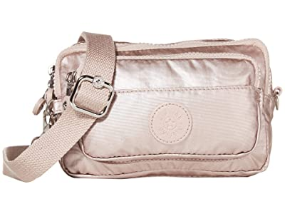 Kipling Multiple Convertible Waistpack (Metallic Rose) Handbags