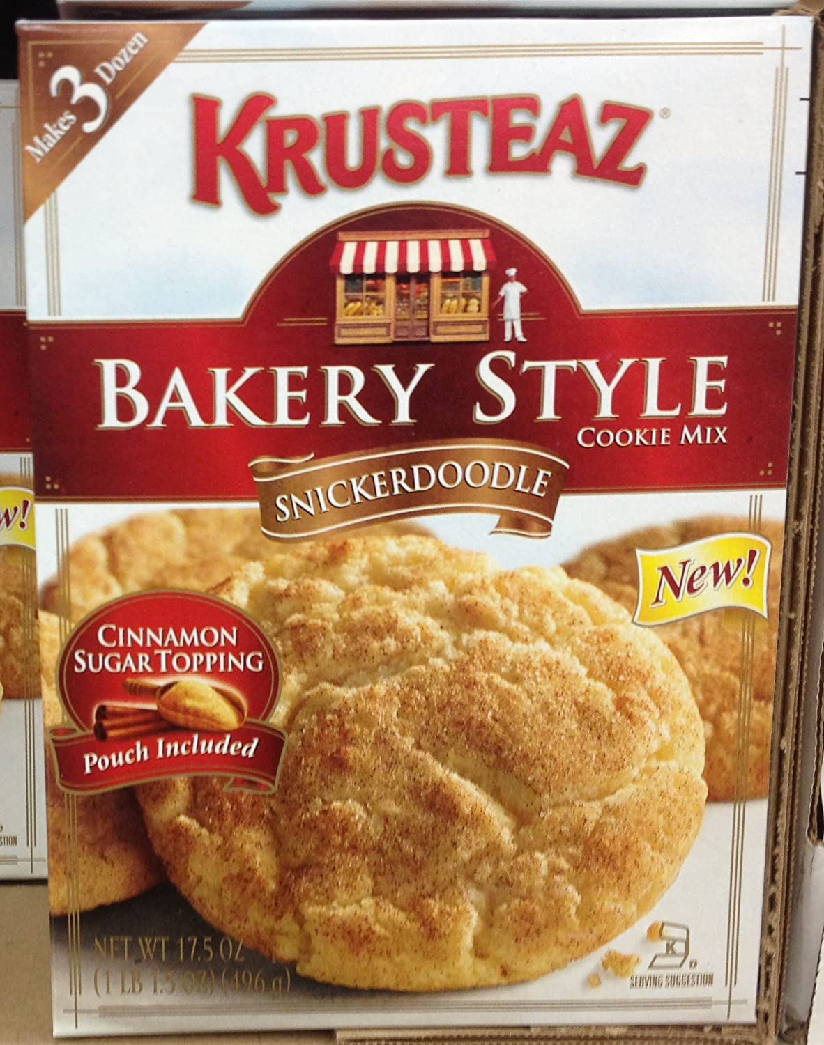 Krusteaz Bakery Style SNICKERDOODLE Same day shipping Recommended Cookie Boxes 6 17.5oz Mix