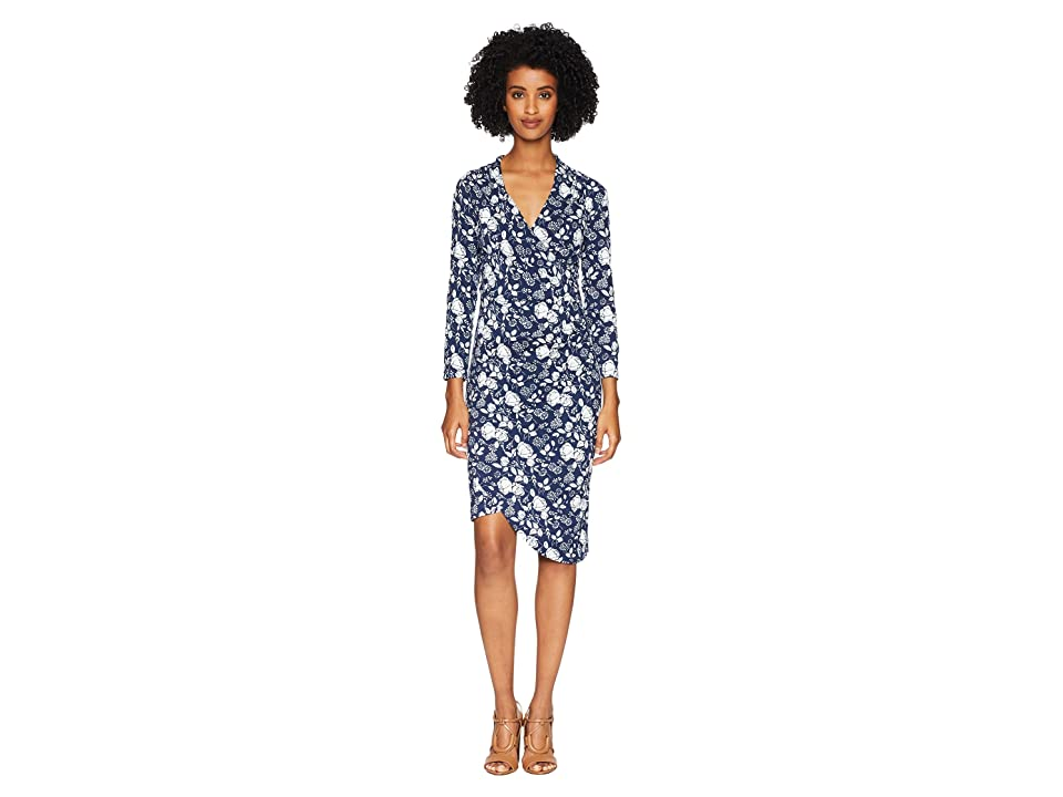 Nicole Miller Stephanie Dress (Blue/White) Women