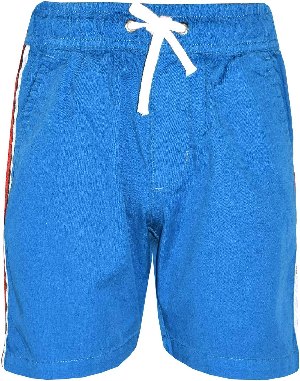 Kids Boys Girls Shorts Contrast Taped Chino Knee Length Half Pant Age 5-13 Yr