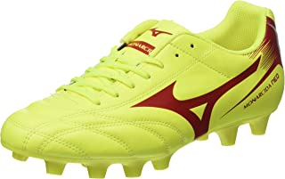 MIZUNO P1GA182445 MONARCIDA NEO MD SAFETYYEL Men's Football Shoes, Safety Yellow/Mars Red