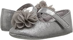 Soft Sole Dress Flat with Flower (Infant)