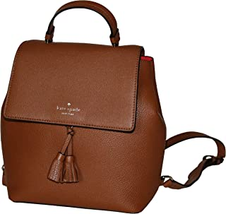 Kate Spade Hayes Medium Leather Backpack (Warm gingerbread/Red)