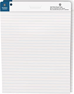 Business Source Self-Stick Easel Pads, Ruled, 30 Shts, 25