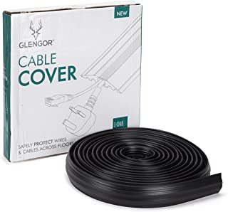 Glengor Medium Duty Floor Cable Cover/Cable Protector | Protect Cables & Prevent Trip Hazards | 10m Length | Black | Outdoor Cable Protector | Perfect for Offices, Retail, Gyms, Factories and Garages.