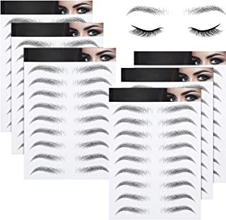 6 Sheets 4D Hair-Like Waterproof Eyebrow Tattoos Stickers Eyebrow Transfers Stickers Grooming Shaping Eyebrow Sticker in A...