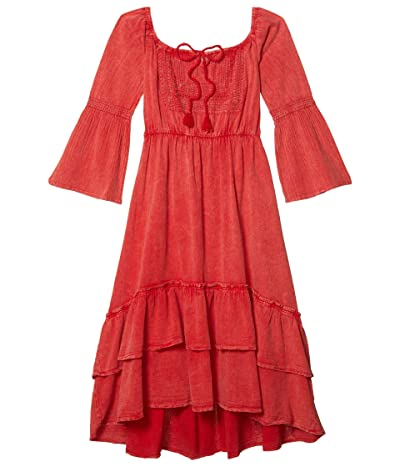 Scully Off the Shoulder Summer Party Dress (Brick) Women