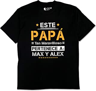 1WEN: T-shirt, Playera para papá. maravilloso. Regala a tu padre: Camiseta personalizable para hombre