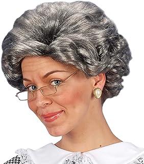 WIDMANN Grey Agatha Granny Wig (peluca)