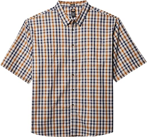 Navy Brown Duck Plaid