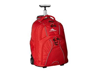 High Sierra Freewheel Wheeled Backpack (Crimson) Backpack Bags