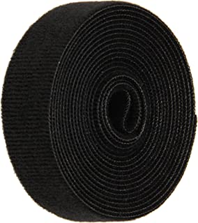 FLAMEPRO 1224-FR-PB//L Beige Flame Retardant Woven Nylon Loop 30 Length Plain Black 1 Wide