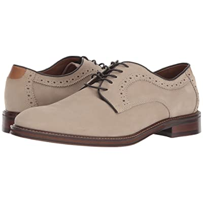 Johnston & Murphy Warner Casual Dress Plain Toe Oxford (Beige Water-Resistant Tumbled Nubuck) Men
