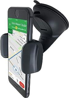 Premium KFZ PKW Auto Halterung für Smartphone Handy an Windschutzscheibe   Universal mit Kugelgelenk 360°drehbar Autohalterung Handyhalterung Armaturenbrett Saugnapf Handy Halter   Car Holder Mount