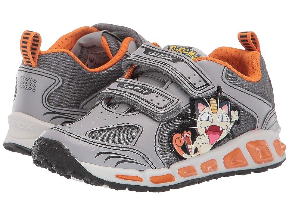 Geox Kids Shuttle 15 Pokemon (Toddler/Little Kid) (Grey/Orange) Boy