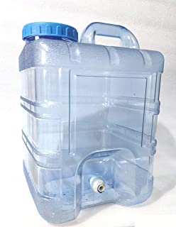 Marine Color 3.2-5.3 Gallon Acrylic Auto Top Off Container for Aquarium Reef Tank Reservoir
