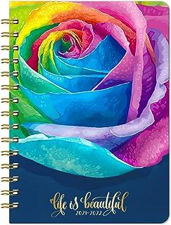 2021 Planner - 2021 Weekly & Monthly Planner with Rose Hard Cover, Jan 2021 - Dec 2021, 6.4'' x 8.5'', Inner Pocket, Elast...