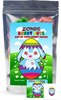 Zombie Bunny Guts Gummy Chicks - Funny Easter Basket Gag Birthday Girl, Boy and Teens Candy Gift