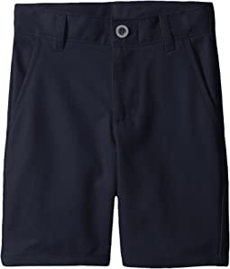 Slim Flat Front Twill Shorts (Little Kids/Big Kids)