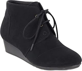 MIA AMORE Sarah-W Women's Booties, Color: Black, Size: 10W