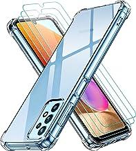 ivoler Coque pour Samsung Galaxy A32 4G avec Pack de 3 Protection Écran en Verre Trempé, Transparent Étui de Protection en Silicone Antichoc, Mince Souple TPU Bumper Housse