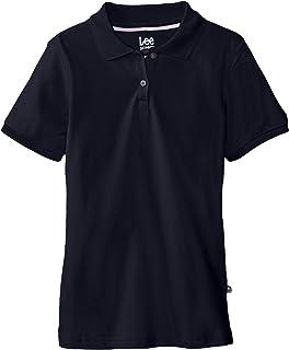 قميص بولو من البيكيه مطاطي بأكمام قصيرة للفتيات الصغيرات من Lee Uniforms