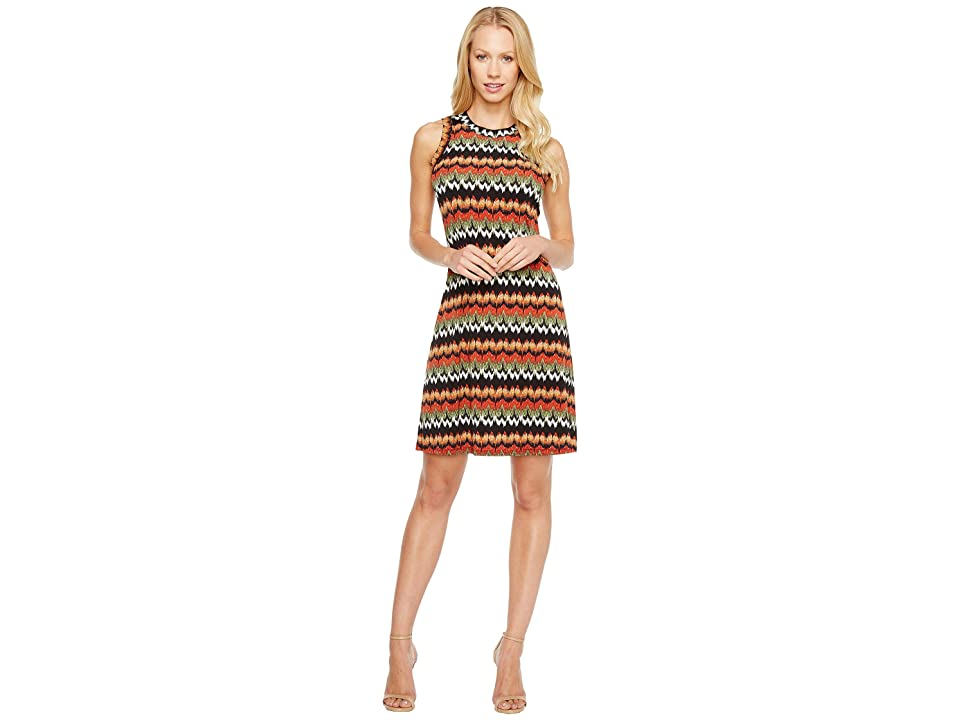 Karen Kane Abstract Zigzag Halter Dress (Print) Women