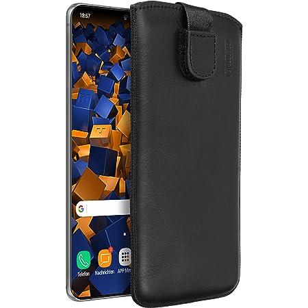 Mumbi Echt Ledertasche Kompatibel Mit Samsung Galaxy S20 Ultra Hülle Leder Tasche Case Wallet Schwarz Elektronik