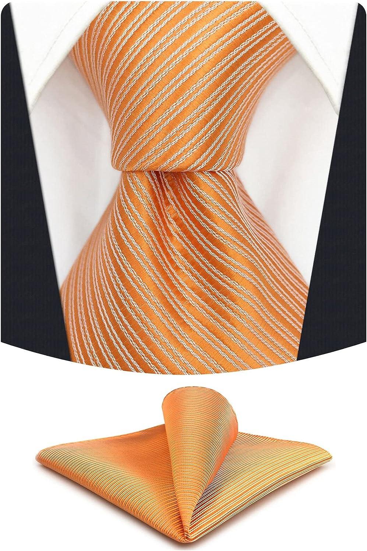 S&W SHLAX&WING Men's Neckties Pumpkin and Men's Ties Solid Colors