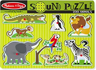 Melissa & Doug Zoo Animals Sound Puzzle | Puzzles | Wood | 2+ | Gift for Boy or Girl