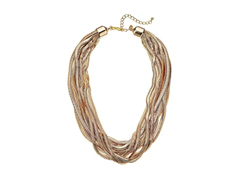 Kenneth Jay Lane Woman Beaded Gold-tone Necklace Brass Size Kenneth Jay Lane