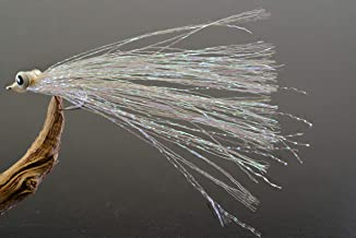 Clouser Minnow Fishing Flies - Crystal - Mustad Signature Duratin Fly Hooks - 6 Pack