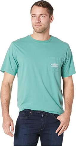 Short Sleeve Linear Bluefish Pocket Tee