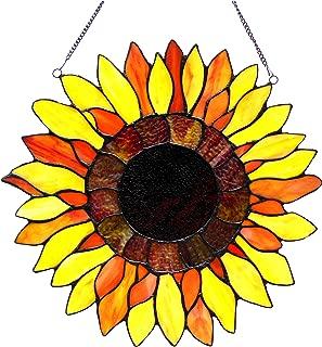 Chloe Lighting Sunnyville Sunflower Window Panel