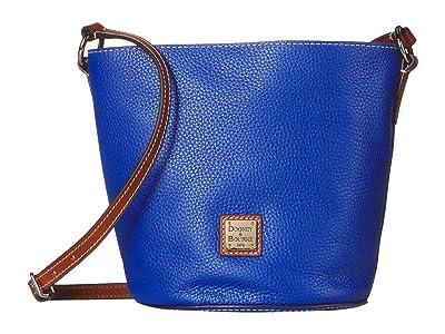 Dooney & Bourke Pebble Small Thea Crossbody (French Blue/Tan Trim) Cross Body Handbags