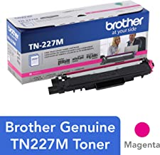 $93 » Brother Genuine TN227M, High Yield Toner Cartridge, Replacement Magenta Toner, Page Yield Up to 2,300 Pages, TN227, Amazon Dash Replenishment Cartridge
