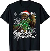 Star Wars Christmas Chewbacca Tangled Lights T-Shirt