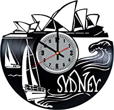 OhohoShop Sydney Australia Vinyl Record Wall Clock Best Birthday Vintage Home Decor