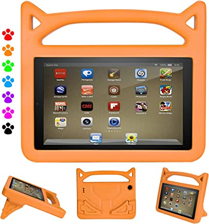 iPad Mini Case, iPad Mini 2/Mini 3/Mini 4 case, Ubearkk [Shockproof] Case Light Weight Kids Friendly Case Super Protection Cover Handle Stand Case for Apple iPad Mini 1/2/3/4 (Orange)