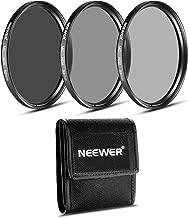 Neewer 52MM ND Filter Set (ND2 ND4 ND8) for NIKON 18-55mm f/3.5-5.6G ED AF-S DX Lens,CANON EF-M18-55mm IS STM Lens,PENTAX 18-55mm F3.5-5.6AL Lens